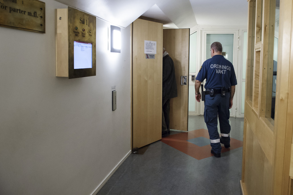 Det är Sveriges största rättegång. Men medieintresset är minst sagt svalt. Foto: Anna Tärnhuvud