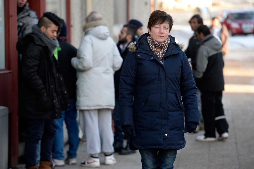 Kommunalrådet Ewa–Leena Johansson (s) säger att över halva arbetstiden i kommunen ägnas åt flyktingfrågor. Foto: URBAN ANDERSSON